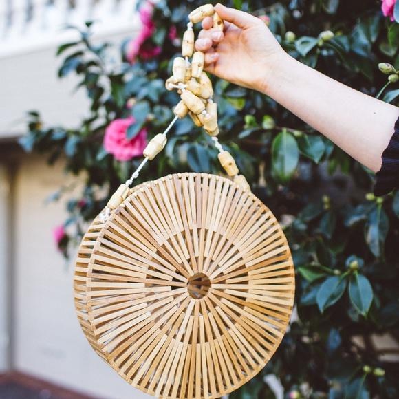 Modcloth Handbags - Round Bamboo Bag